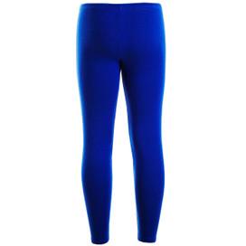Girls Plain Color Cotton Leggings Royal Blue 2-6 Years