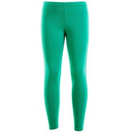 Girls Plain Color Cotton Leggings Green 2-6 Years