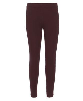 Girls Plain Color Cotton Leggings Brown 2-6 Years
