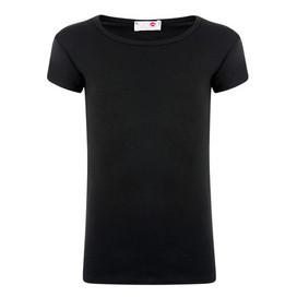 Minx Girls Plain Colour Short Sleeve Top Black 2-6 Years