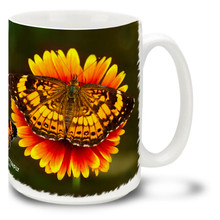 Pearl Crescent Butterfly - 15 oz Mug