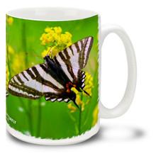Zebra Swallowtail Butterfly - 15 oz Mug