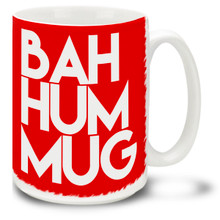 Give 'em your Grinchiest greeting with this Christmas-themed Bah Hum Mug! Durable, dishwasher and microwave safe coffee cup makes a welcome gift for the holidays!