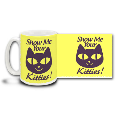 It's always nice to cuddle up with a couple of kitties on a cool winter's night! Cat lovers and lovers of love alike will enjoy seeing your kitties. 15 oz coffee Mug is dishwasher and microwave safe.