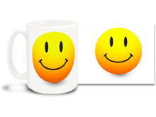 Brighten your day with this classic Smiley Face Coffee Mug! 15 oz coffee Mug is durable, dishwasher and microwave safe.