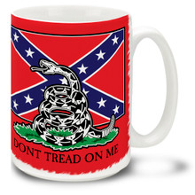Confederate Rebel Flag Snake Tread Coffee Mug - 15oz. Mug