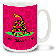 Colorful Pink Gadsden Flag Don't Tread On Me - 15oz. Mug