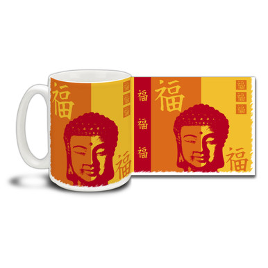 Get right with the Universe with this Buddha Happiness Symbol coffee mug.