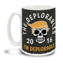 Too proud not to wear an insult as a badge of honor, Donald Trump supporters are a special breed! This All-American Donald Trump mug is durable, dishwasher and microwave safe. Big 15-ounce ceramic coffee mug has comfortable 4-finger handle.