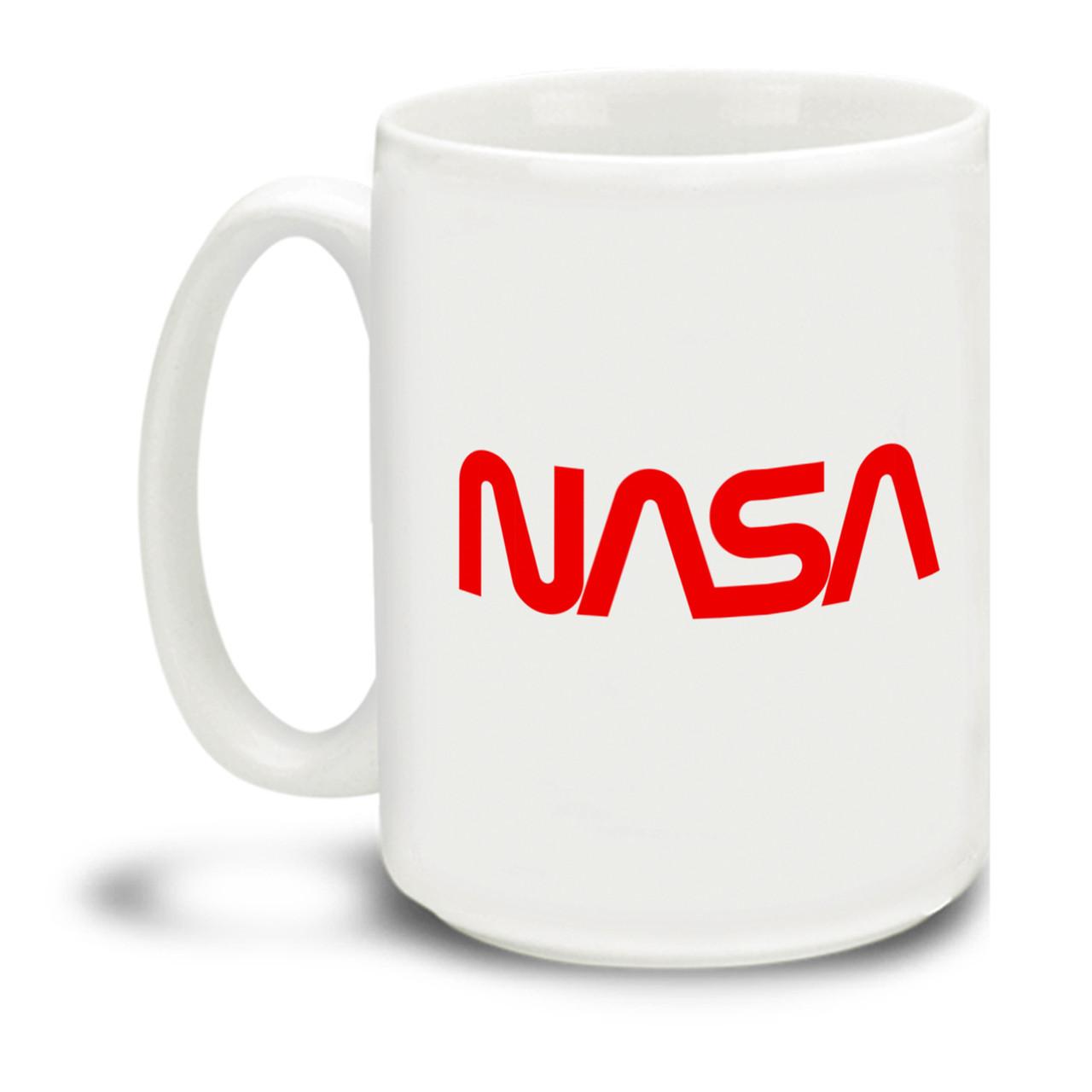 Nasa Logo Red Worm 15 Ounce Coffee Mug Cuppa