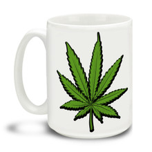 Lively yourself up with this Green Hemp Mug. Delightful marijuana theme makes this the perfect leisure-time mug. Durable, dishwasher and microwave safe big 15-ounce ceramic coffee mug with comfortable 4-finger handle.