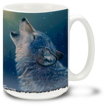 Ascending Song Gray Wolf - 15oz. Mug