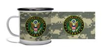 Army Crest on ACU Camo - Metal Camp Mug