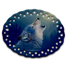 Ascending Song Gray Wolf - Ceramic Ornament