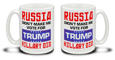 Donald Trump supporters are a special breed! Get ready to Make America Great Again with this durable, dishwasher and microwave safe red Donald Trump mug . Big 15-ounce ceramic coffee mug has comfortable 4-finger handle.