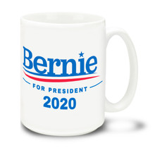 Bernie For President - White - 15 Ounce Coffee Mug