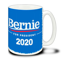 Bernie For President - Blue - 15 Ounce Coffee Mug