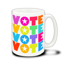 Colorful VOTE - 15 Ounce Coffee Mug