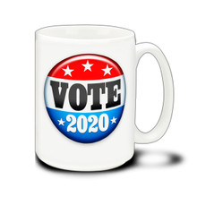 Vote 2020 Button - 15 Ounce Coffee Mug