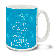 In these uncertain times one thing is for sure, Americans are tough and resilient! Find a little humor and bash the corona virus COVID-19 bug with this durable, dishwasher and microwave safe 15-ounce funny hand washing reminder themed ceramic coffee mug with comfortable 4-finger handle. #coronavirus #washyourhands