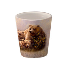 Denali Family Grizzlies - 1.5oz. Ceramic Shot Glass