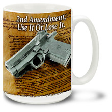 Colt 45 Pistol with Second Amendment - 15oz. Mug