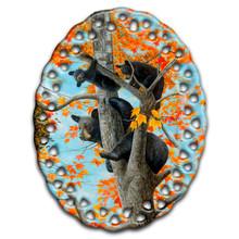 Unwelcomed Guest Black Bears - Ceramic Ornament