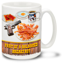Bacon and Gun Balanced Breakfast - 15oz. Mug