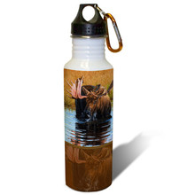 Refresh and Replenish Bull Moose - 22oz. Stainless Steel Water Bottle