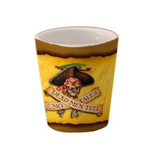 Dead Men Tell No Tales Pirate - 1.5oz. Ceramic Shot Glass