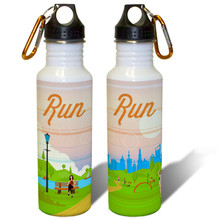 Run Motivation Running Exercise - 22oz. Stainless Steel Water Bottle