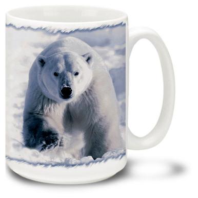 The mighty Polar Bear on the snowy tundra.