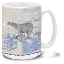 Beautiful Polar Bears in the snow.