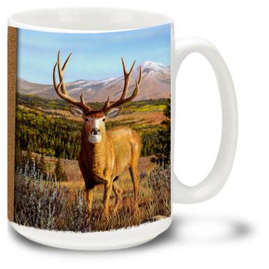 The beautiful Mule Deer Buck roaming the wilderness.