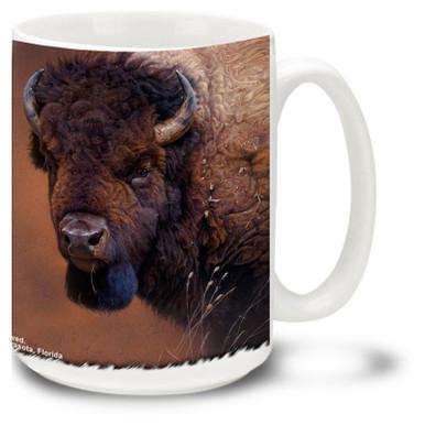 Beautiful Buffalo against a scenic background.