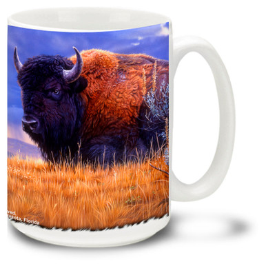 Mighty Buffalo on the beautiful plains.