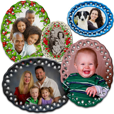 Celebrate the holidays or any special occasion with our attractive custom photo ornament. Comes with tied gold ribbon and shipped in attractive gift box.