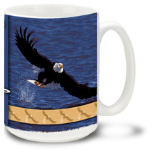Fly Fishing Eagle - 15oz. Mug