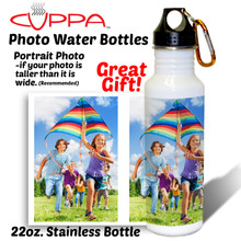 Our 22 ounce stainless steel photo water bottle makes a great gift or keepsake!