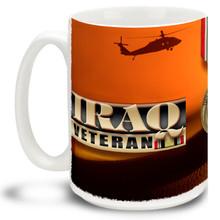 Iraq Campaign Army Veteran Medal - 15oz. Mug