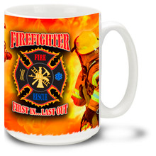 Firefighters Fireman Collage - 15oz. Mug