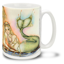 Freckles the Colorful Mermaid - 15oz. Mug