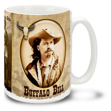 Buffalo Bill Featuring Sitting Bull - 15oz. Mug