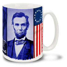 Abraham Lincoln United States Civil War Flag Responsibility Quote - 15oz. Mug