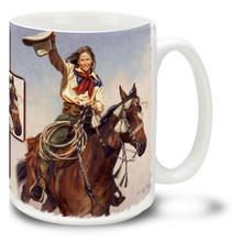 Yippee Yi Yea Cowgirl and Horse Coffee Mug - 15oz. Mug