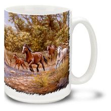 Wild Horses Coffee Mug - 15oz. Mug