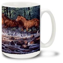 Spring Creek Run Horses Coffee Mug - 15oz. Mug