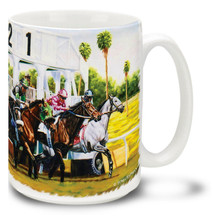 Clean Break Race Horses Coffee Mug - 15oz. Mug