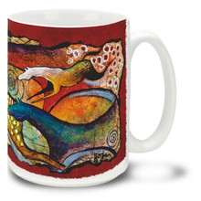 Spots and Spirals Flowing Horses Coffee Mug - 15oz. Mug