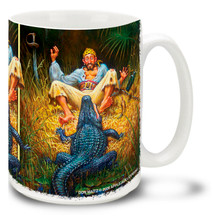 Caught Nipping Pirate vs Alligator - 15oz. Mug